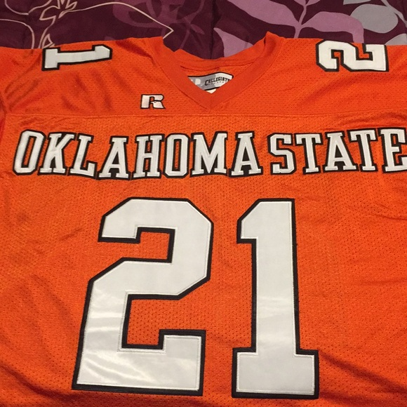 low priced 031ae d6423 Oklahoma state Barry Sanders throwback jersey